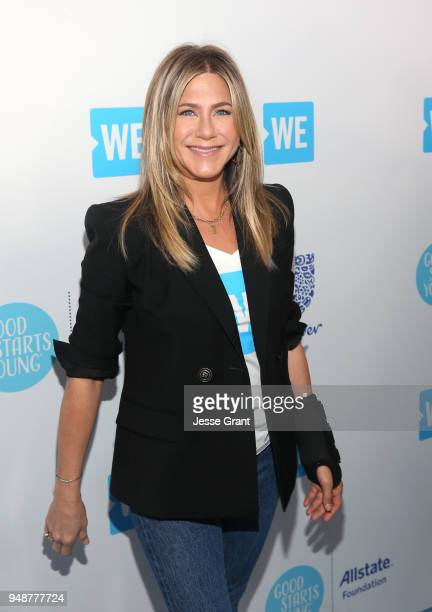 Jennifer Aniston attends WE Day California at The Forum on April 19 2018 in Inglewood California