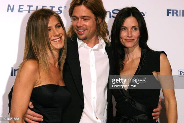 Jennifer Aniston Brad Pitt and Courteney Cox Arquette