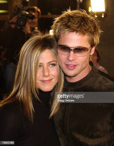 Jennifer Aniston Brad Pitt at the Mann National Theatre in Westwood California