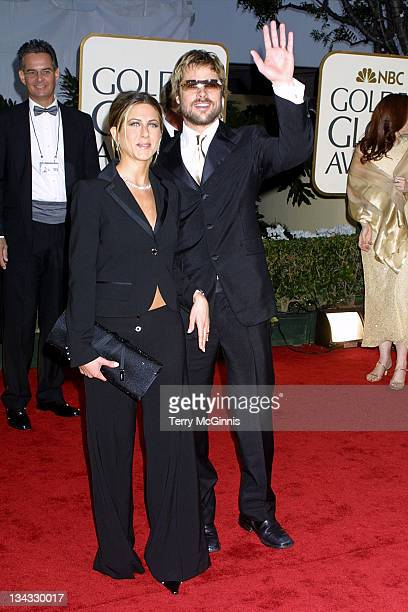 Jennifer Aniston Brad Pitt during The 59th Annual Golden Globe Awards Arrivals at The Beverly Hilton in Beverly Hills California United States