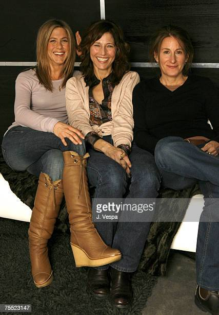 Jennifer Aniston Catherine Keener and Nicole Holofcener at the HP Portrait Studio in Park City Utah
