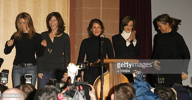 Jennifer Aniston Catherine Keener Nicole Holofcener director Joan Cusack and Frances McDormand