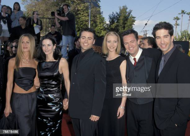 "Jennifer Aniston, Courteney Cox, Matt LeBlanc, Lisa Kudrow, Matthew Perry and David Schwimmer of ""Friends"""