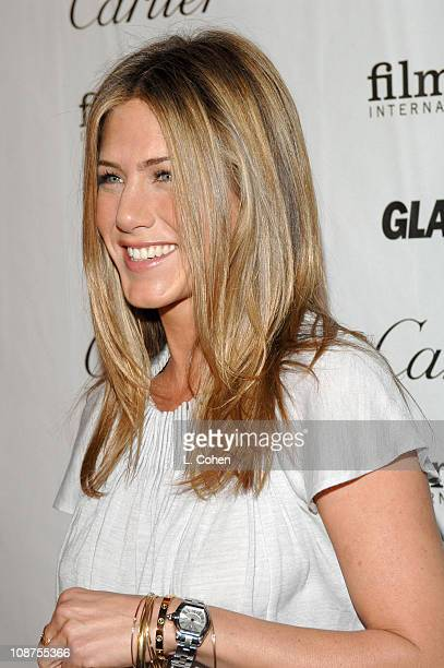 Jennifer Aniston during Glamour Reel Moments Short Film Series Presented by Cartier at DGA in West Hollywood California United States