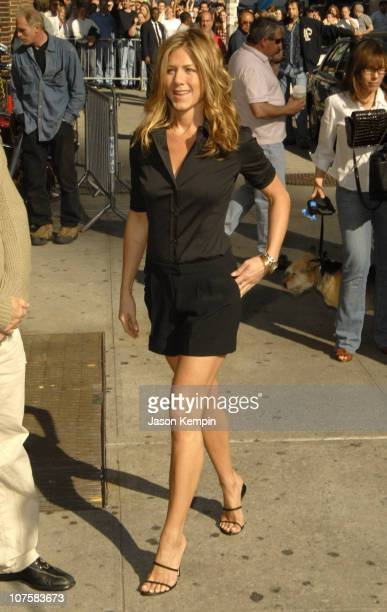 Jennifer Aniston during Jennifer Aniston Arrives at The Late Show With David Letterman May 24 2006 at The Ed Sullivan Theater in New York City New...