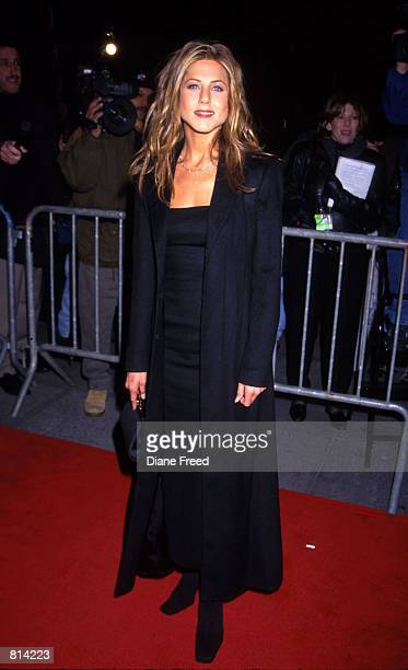 Jennifer Aniston during the 'Meet Joe Black' premiere at the Zeigfeld Theatre in New York City November 2 1999