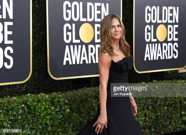 Jennifer Aniston, fashion detail, attends the 77th Annual Golden Globe Awards at The Beverly Hilton Hotel on January 05, 2020 in Beverly Hills,...