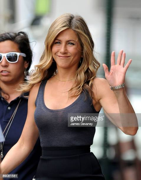 Jennifer Aniston filming on location for The Bounty in the borough of Brooklyn on July 17 2009 in New York City