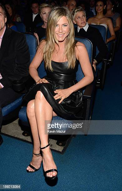Jennifer Aniston in the audience during 2013 People's Choice Awards at Nokia Theatre LA Live on January 9 2013 in Los Angeles California