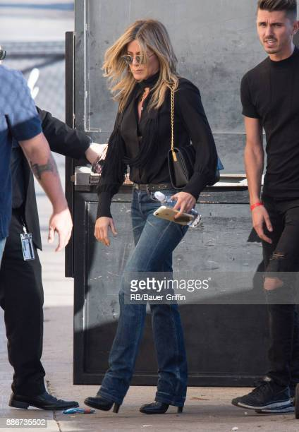 Jennifer Aniston is seen at 'Jimmy Kimmel Live' on December 05 2017 in Los Angeles California