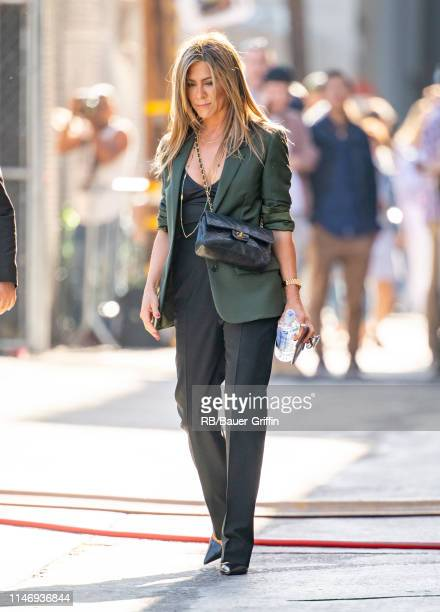 Jennifer Aniston is seen at 'Jimmy Kimmel Live' on May 29 2019 in Los Angeles California