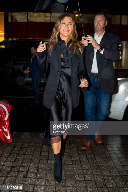 Jennifer Aniston is seen in Midtown on October 29, 2019 in New York City.