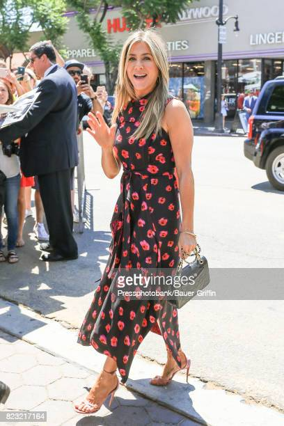 Jennifer Aniston is seen on July 26, 2017 in Los Angeles, California.