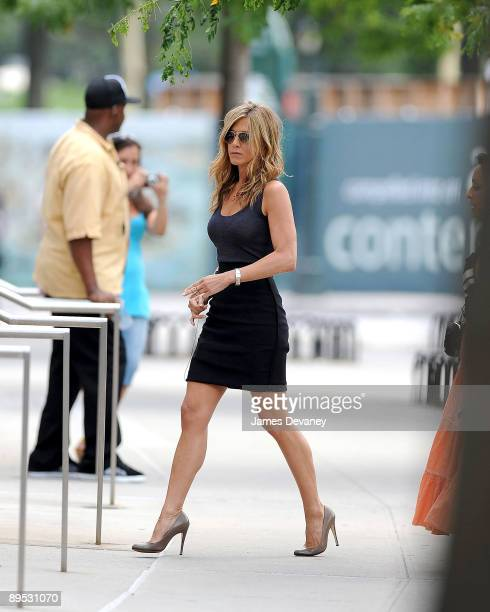 Jennifer Aniston is seen on the streets of Manhattan on July 30 2009 in New York City