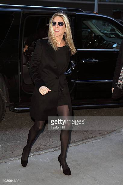 Jennifer Aniston is sighted at Good Morning America's studios on February 10 2011 in New York City
