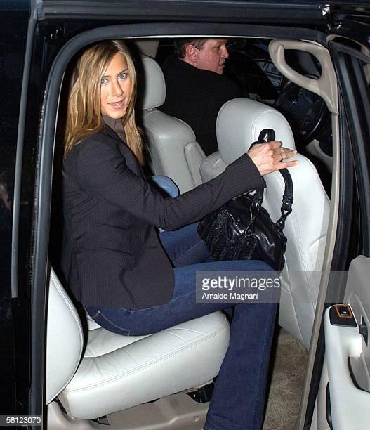 Jennifer Aniston leaves a midtown hotel on November 8 2005 in New York City