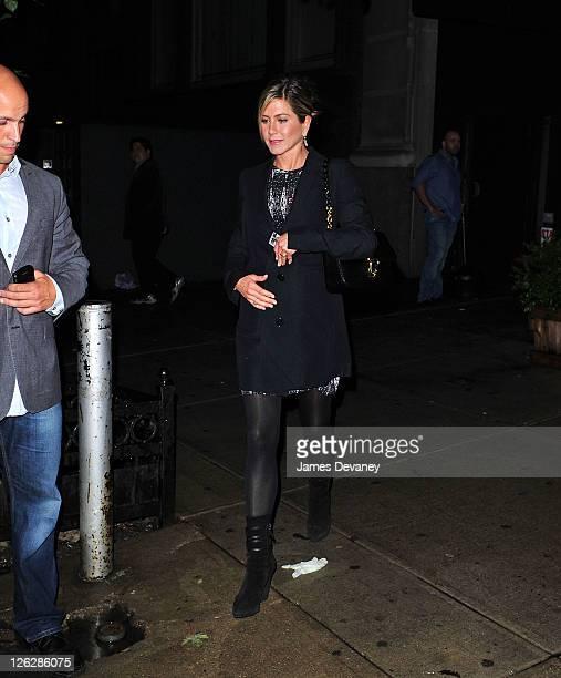 Jennifer Aniston leaves Almond on September 23 2011 in New York City