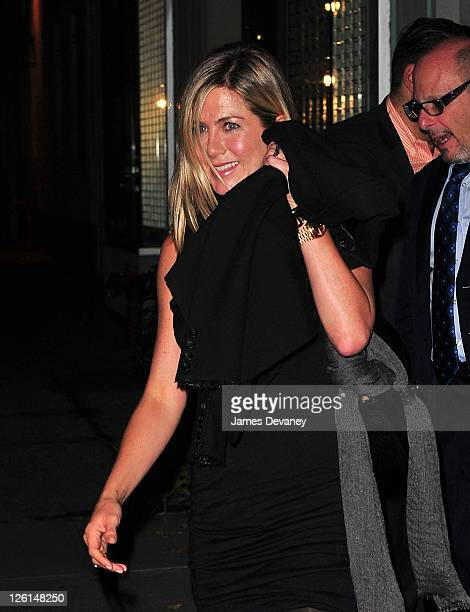Jennifer Aniston leaves Il Cantinori on September 22 2011 in New York City