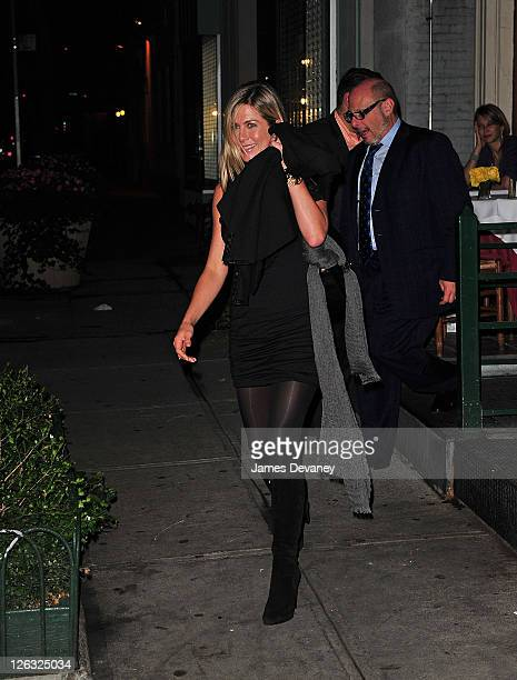 Jennifer Aniston leaves Il Cantinori on September 22 2011 in New York City