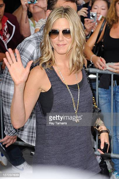 Jennifer Aniston leaves the Good Morning America taping at the ABC Times Square Studios on September 26 2011 in New York City