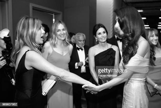 Jennifer Aniston Molly McNearney Courteney Cox and Amal Clooney attend the American Film Institute's 46th Life Achievement Award Gala Tribute to...
