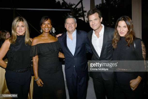 Jennifer Aniston Nicole Avant Netflix Chief Content Officer Ted Sarandos Jason Bateman and Amanda Anka attend Ted Sarandos' 2018 Annual Netflix Emmy...