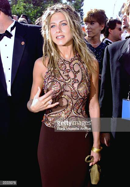 Jennifer Aniston of 'Friends' at the 1999 Emmy Awards held in Los Angeles CA 9/13/99 Photo by Frank Micelotta/Getty Images