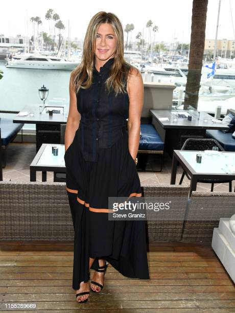 Jennifer Aniston poses at the Photocall Of Netflix's Murder Mystery at Ritz Carlton Marina Del Rey on June 11 2019 in Marina del Rey California