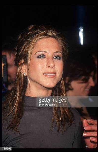Jennifer Aniston poses at the VH1 Divas Live concert April 14 1998 New York City Along with her role as Rachel on the television show 'Friends'...