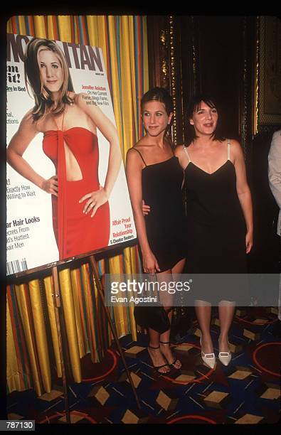 """Jennifer Aniston promotes Cosmopolitan Magazine July 25, 1997 in New York City. Along with her role as Rachel on the television show """"Friends,""""..."""