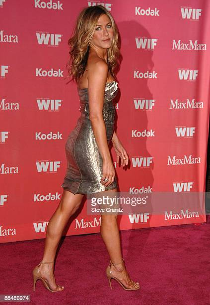 Jennifer Aniston rrives at Women In Film's 2009 Crystal and Lucy Awards at the Hyatt Regency Century Plaza on June 12 2009 in Century City California