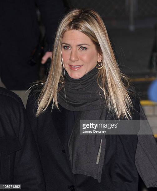 Jennifer Aniston seen leaving CBS's The Early Show at CBS studios on February 10 2011 in New York City