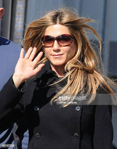Jennifer Aniston seen on location for 'The Baster' on March 31 2009 in Williamsburg Brooklyn