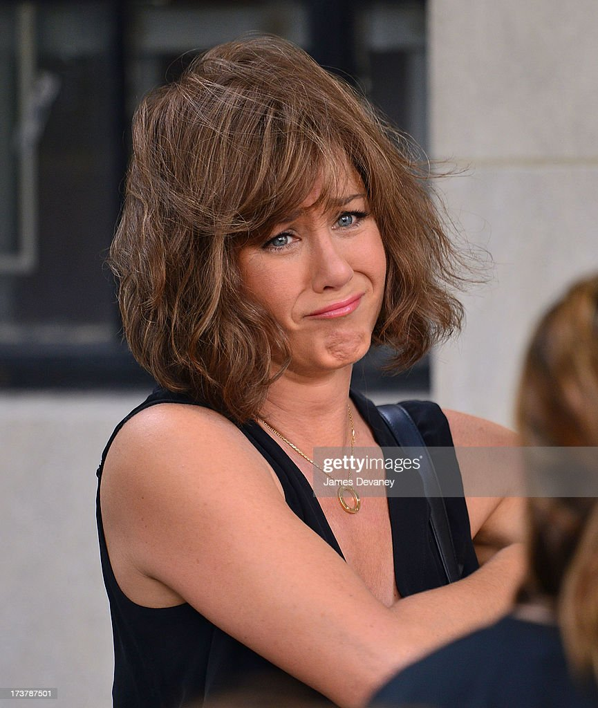 Jennifer Aniston seen on the set of 'Squirrels to the Nuts' on July 17, 2013 in New York City.