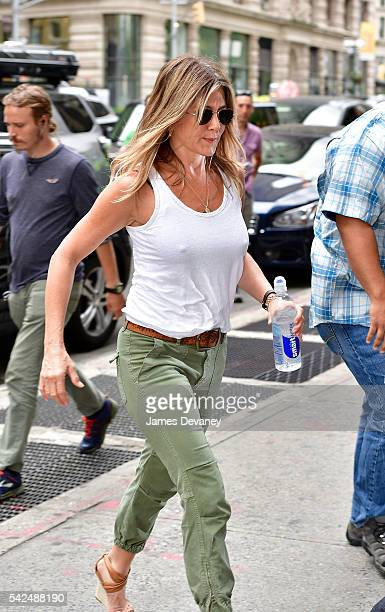 Jennifer Aniston seen on the streets of Manhattan on June 23 2016 in New York City