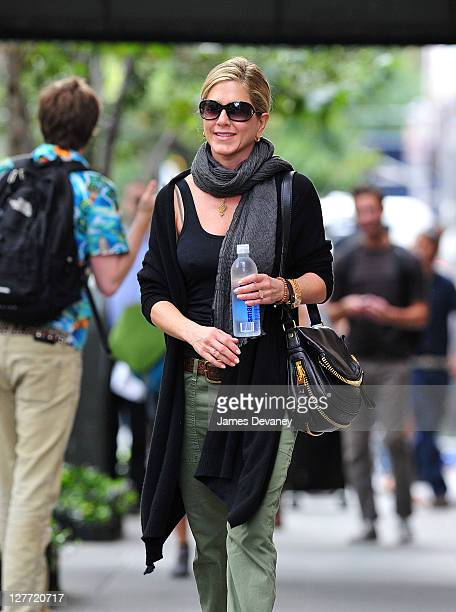 Jennifer Aniston seen walking in the West Village on September 30 2011 in New York City