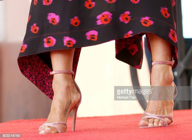 Jennifer Aniston shoe detail attends the ceremony honoring Jason Bateman with a Star on The Hollywood Walk of Fame held on July 26 2017 in Hollywood...