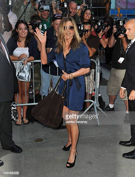 Jennifer Aniston visits ABC's Good Morning America in Times Square on August 19 2010 in New York City