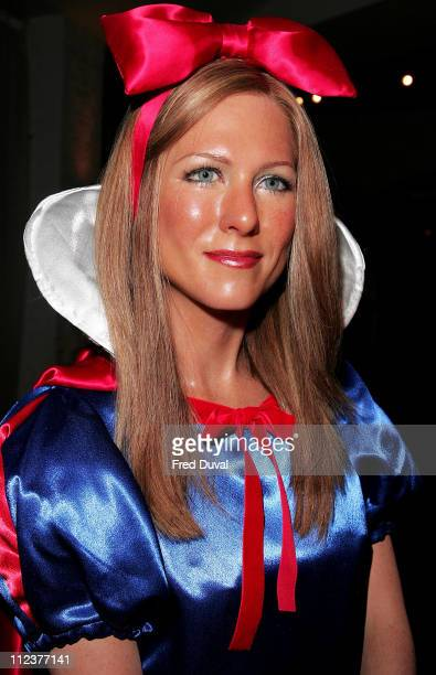 Jennifer Aniston waxwork as Snow White during Madame Tussauds Celebrity Pantomime Photocall December 15 2005 at Madame Tussauds in London Great...
