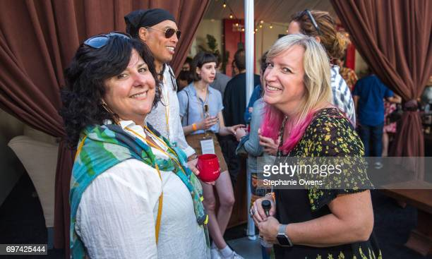 Jennifer Arnold and Susan Dynner attend the Women Filmmakers Event during 2017 Los Angeles Film Festival at Festival Lounge on June 16 2017 in Culver...