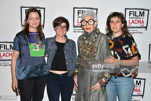 Jennifer Ash Rudick Laura Coxson Iris Apfel and Rebekah Maysles attend the Film Independent at LACMA Screening and QA of Iris at Bing Theatre At...