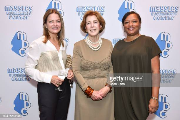 Jennifer Ash Rudick Patricia Sullivan and Laura Hope Acevedo attend The Maysles Documentary Center's Albie Award Dinner at a Private Club on...