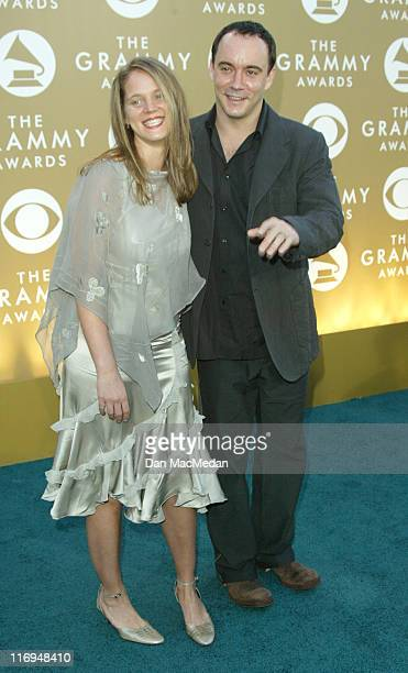 Jennifer Ashley Harper and Dave Matthews during The 46th Annual GRAMMY Awards Arrivals at Staples Center in Los Angeles California United States