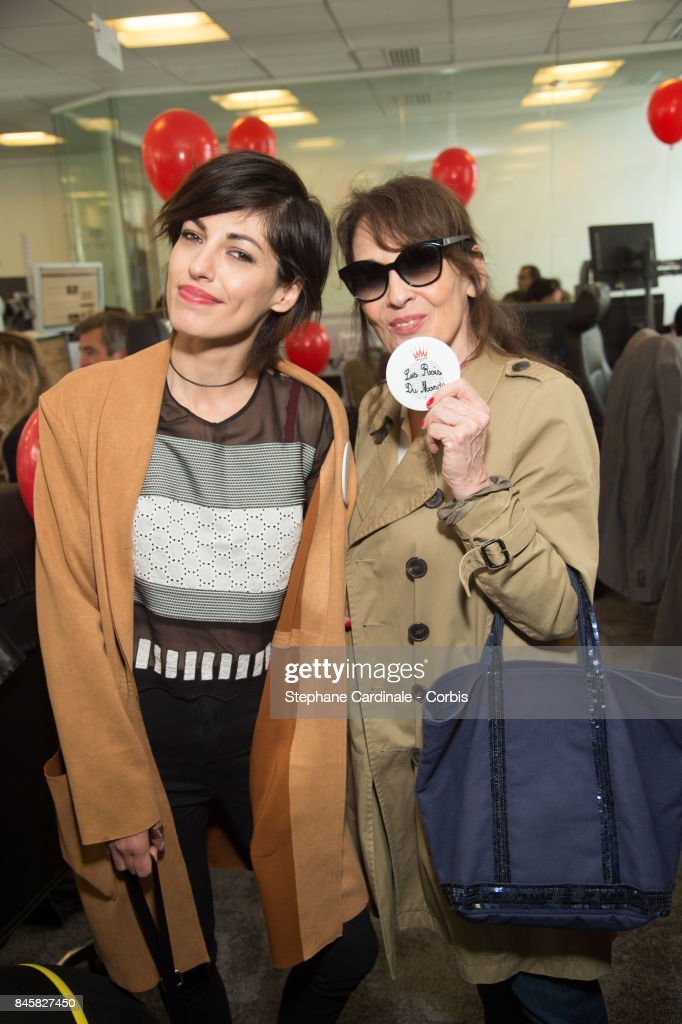 Jennifer Ayache (Superbus singer) and her mother Chantal Lauby attend the Aurel BGC Charity Benefit Day 2017 on September 11, 2017 in Paris, France.