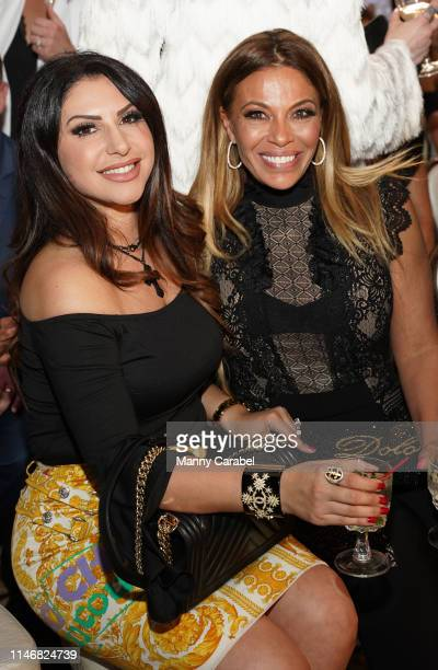 Jennifer Aydin and Dolores Catania attend the Envy By Melissa Gorga Fashion Show on May 03, 2019 in Hawthorne, New Jersey.