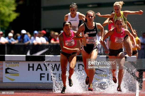 Jennifer Barringer competes in the 3000 meter steeplechase final during the USA Outdoor Track & Field Championships at Hayward Field on June 28, 2009...