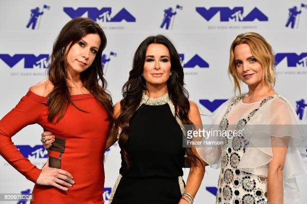 Jennifer Bartels Kyle Richards and Mena Suvari attend the 2017 MTV Video Music Awards at The Forum on August 27 2017 in Inglewood California