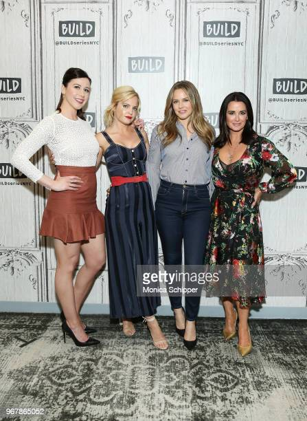 Jennifer Bartels Mena Suvari Alicia Silverstone and Kyle Richards visit Build Studio to discuss the television show American Woman on June 5 2018 in...