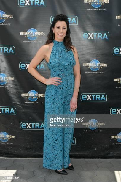 Jennifer Bartels visits Extra at Universal Studios Hollywood on June 14 2018 in Universal City California