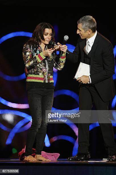 Jennifer Bartoli and Nagui attend 30th Telethon at Hippodrome de Longchamp on December 3 2016 in Paris France